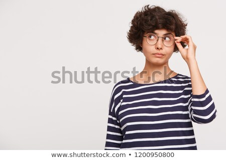 Teenage brunette removing glasses Stock photo © photography33
