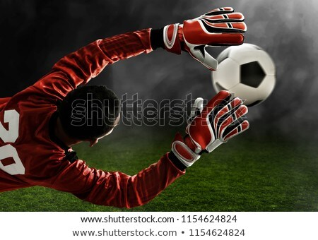 Goalpost with ball Stock photo © zzve