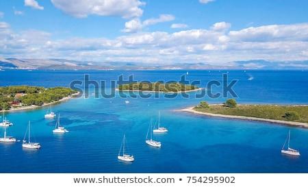 mer · Croatie · eau · faible · bateau · navire - photo stock © tannjuska