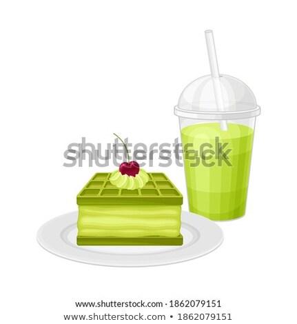 lemonade and cream waffle pastry stock photo © lunamarina