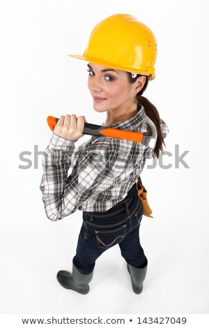 A female construction worker striking a pose Stock photo © photography33