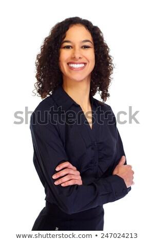 混血 · 女性実業家 · 孤立した · 白 · ビジネス · 女性 - ストックフォト © feverpitch
