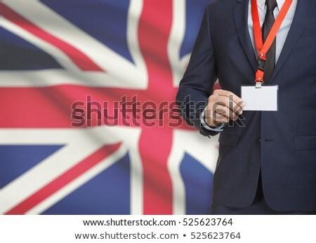 British Businessman holding business card with Great Britain Fla Stock photo © stevanovicigor