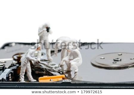 grupo · reparar · computador · reparação · de · computadores · trabalhar · fundo - foto stock © kirill_m