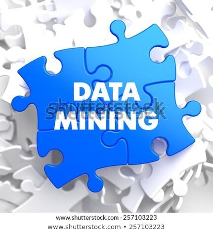 Data Mining on Blue Puzzle. Stock photo © tashatuvango