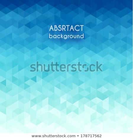 Pixeles kék minta absztrakt illusztráció vektor Stock fotó © derocz