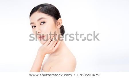 Estância termal relaxante retrato fresco belo loiro Foto stock © dash