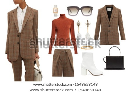 Stock photo: Woman in fashion dress concept on white