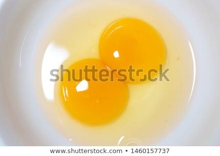 Stockfoto: Twee · ei · licht · Geel · donkere · hoop