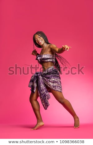 Beautiful african american dancer Stock photo © dash