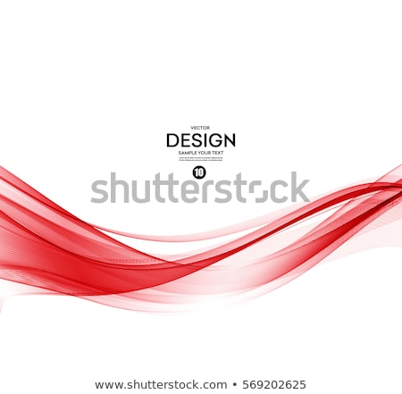 Abstract red wavy lines Stock photo © fresh_5265954
