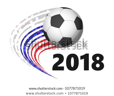 Balón de fútbol banderas Rusia Alemania 3D Foto stock © Wetzkaz
