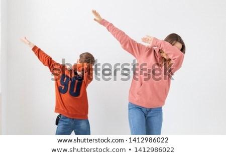 dos · personas · baile · blanco · ilustración · danza · deporte - foto stock © bluering