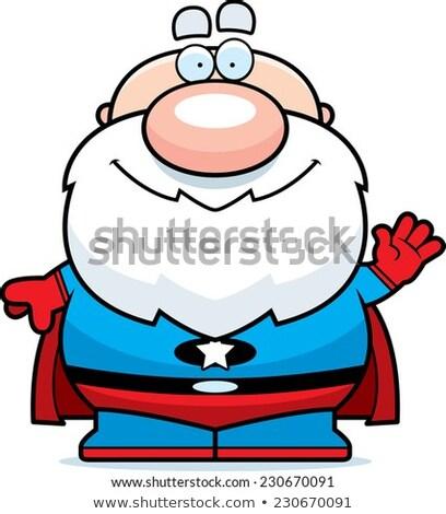 Integet rajz szuperhős nagypapa illusztráció férfiak Stock fotó © cthoman