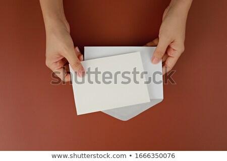 női · kéz · tart · nyertes · felirat · papír - stock fotó © ra2studio
