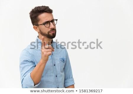 портрет молодые бородатый человека Постоянный Сток-фото © deandrobot