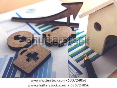 финансовых банковской складе таблица дома Сток-фото © Freedomz