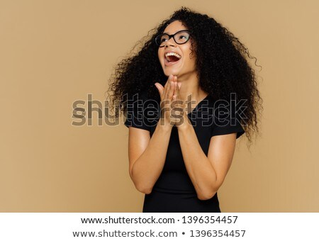 Mooie vrouw handen weg gericht geluk Stockfoto © vkstudio
