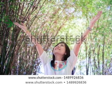 竹 森林 自然 女性 環境 自由 ストックフォト © Maridav