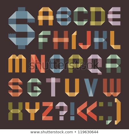 Font from colored scotch tape -  Roman alphabet stock photo © Ecelop