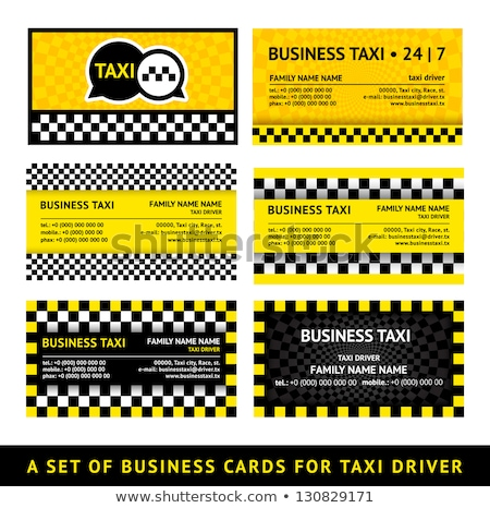 Business card taxi - eighth set stock photo © Ecelop