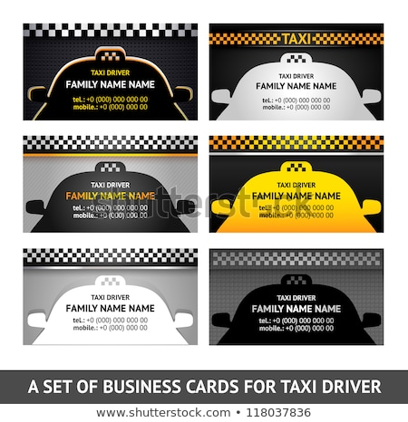 Stock photo: Business card driver race - fifth set