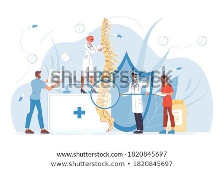 Medicine and disease - backache  Stock photo © Kzenon