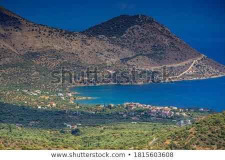 деревне пейзаж Греция морем Европа Сток-фото © igabriela