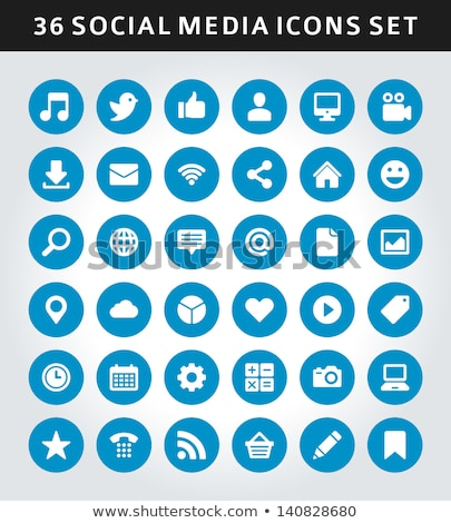 Stock photo: Talk Blue Vector Icon Design