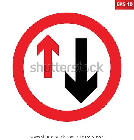 donner · façon · signe · pays · chemin · de · terre - photo stock © pedrosala