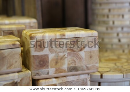 Stock photo: Open white empty gift box on light background. Top view. Template for your presentation, banner or p