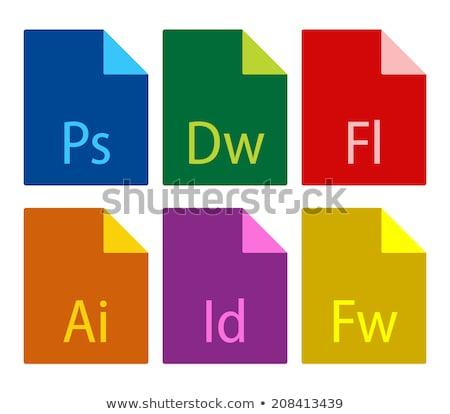 şablon dosya format simgeler yalıtılmış beyaz Stok fotoğraf © kup1984
