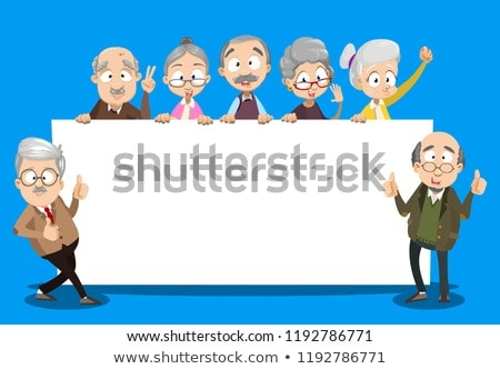 Seniors Citizen Happy Illustration Stock photo © lenm