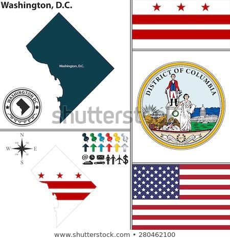 Vektor szett zászlók amerikai Washington különböző Stock fotó © butenkow