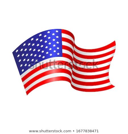 Bayrak Amerika Birleşik Devletleri Amerika örnek dalgalı Stok fotoğraf © designer_things