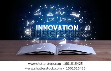 Business fuori libro aperto influenzare libro Foto d'archivio © ra2studio