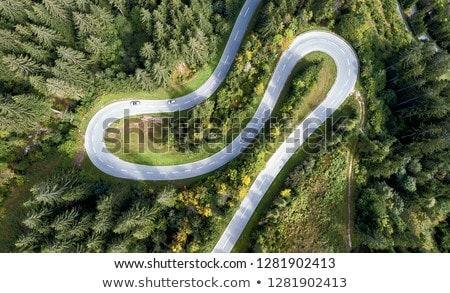 Winding road in the mountains Stock photo © olira