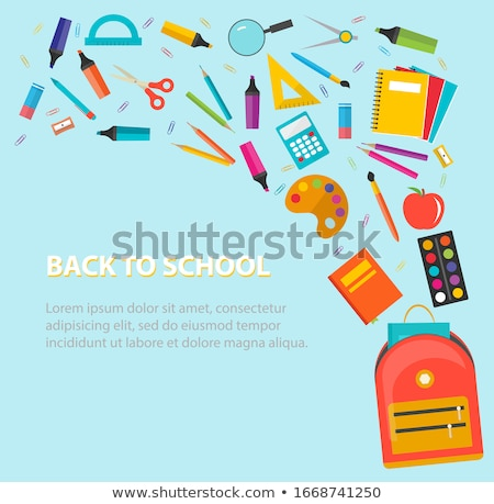 Satchel with School Supplies, Books in Backpacks Stock photo © robuart