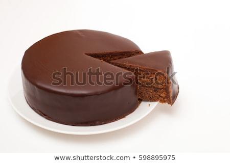 Sacher Torte chocolate cake Stock photo © aladin66