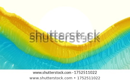 abstract 3d gradient backdrop in multiple yellow blue  Stock photo © Melvin07