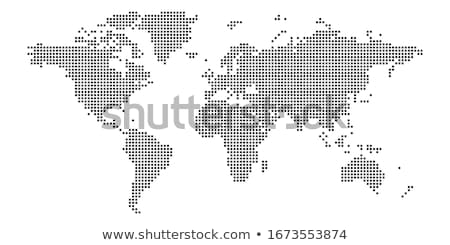 Halftone dots map of the world Stock photo © lightkeeper