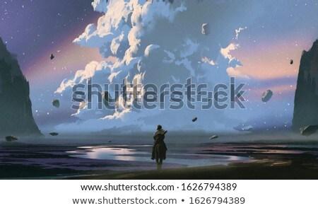 夢のような 美 垂直 肖像 春 少女 ストックフォト © pressmaster