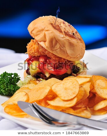 Chip sándwich chips pan bollo Foto stock © raphotos