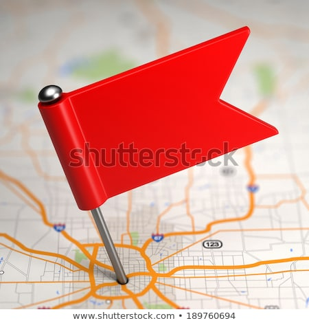 Blank Small Flag on a Map Background. Stock photo © tashatuvango