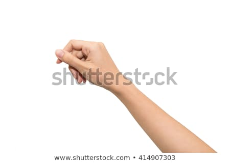 Womans hand with vertical empty card Stock photo © cherezoff