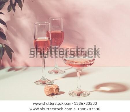 шампанского · роз · белый · цветок · закрывается · лист - Сток-фото © neirfy