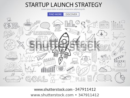 marketing strategy with doodle design style finding solution brainstorming stock photo © davidarts