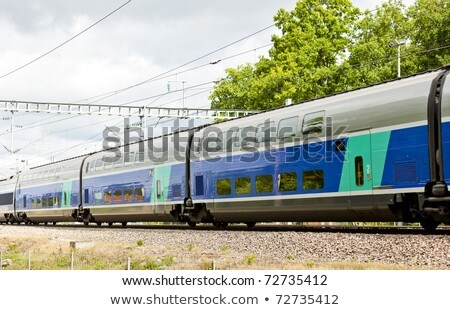 Stock photo: train of TGV, Burgundy, France