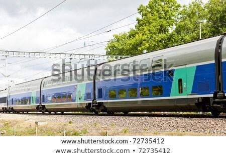 train of TGV, Burgundy, France Stock photo © phbcz
