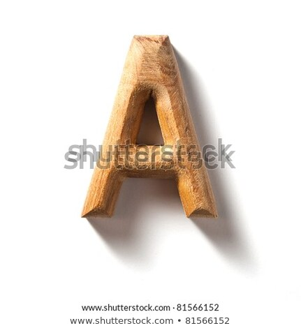 Wooden Alphabet Letter Stock photo © sippakorn
